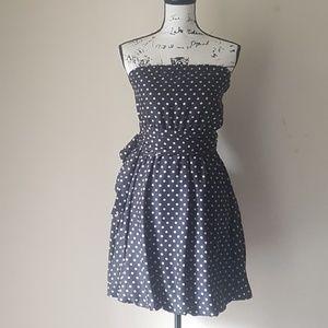 BCBG MAXAZRIA polka dot strapless dress
